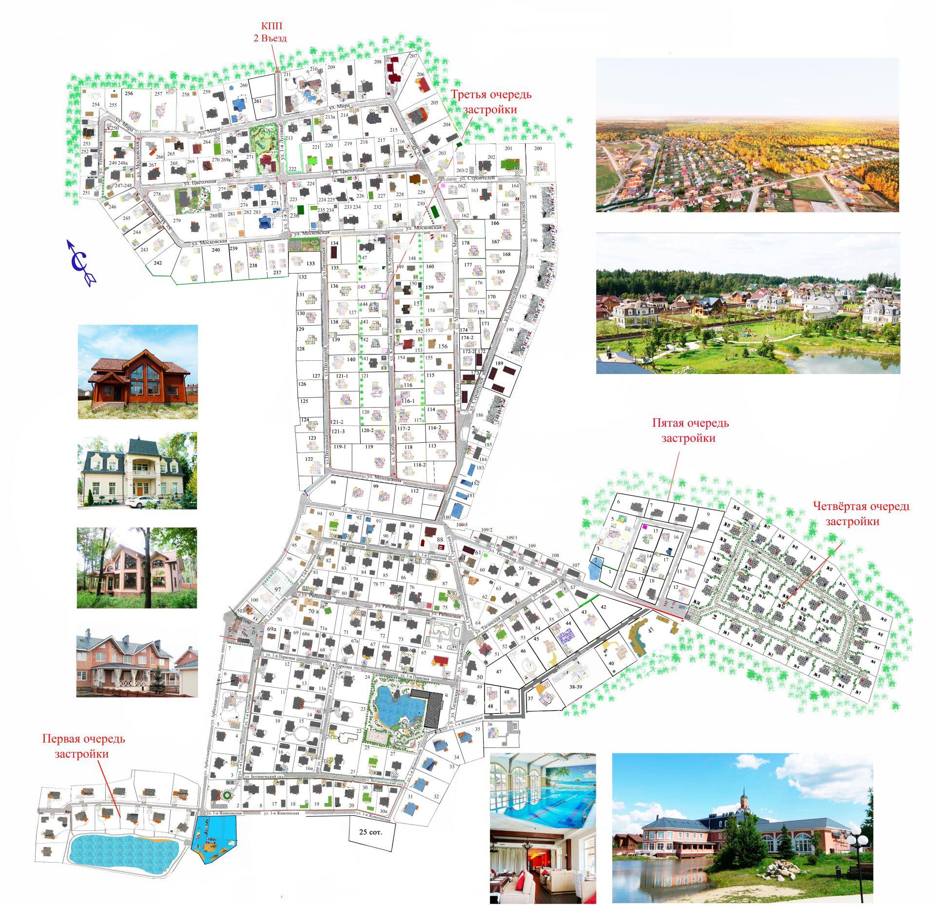 Генеральный план Глаголево парк